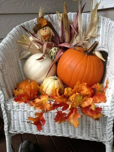 Fall decor for the porch by faye