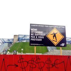 Paris - Quand Bercy adapte sa communication chantier aux squatteurs à roulettes !
