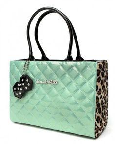 Lux de Ville Lucky Me Tote Baby Green Sparkle  Leopard