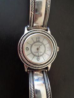 Your place to buy and sell all things handmade Vintage Silver, Vintage Jewelry, Vintage Items, Unique Jewelry, Vintage Watches Women, White Leather, Perfume, Stamp, Sterling Silver