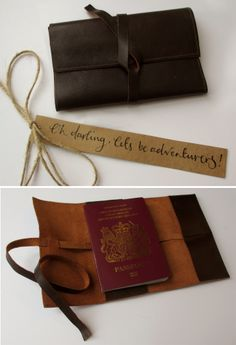 #DIY #Leather #Passport #Cover #Valentines #Gift