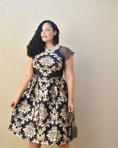 Baroque Print Midi Dress