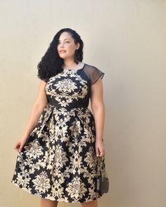 Baroque Print Midi Dress