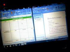 ¡Trabajando! ;)  → Haciendo documentos, listas de la compra, qué comprar y demás.   ¡A organizarse!