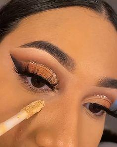 Eye Makeup Steps, Eye Makeup Art, Smokey Eye Makeup, Eyeshadow Makeup, Eyebrow Makeup, Makeup Tutorial Eyeliner, Makeup Looks Tutorial, Dope Makeup, Glam Makeup