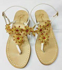 4084d0aa29b8 Beautiful red swarovski crystal sandals handmade in Italy.