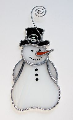 Christmas Holiday Stained Glass Suncatcher  Winter by GLASSbits, $26.00