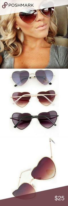 28a30e0ec6c ⚡️Heart Sunglasses Various Shades ⚡️Ultra cute high fashion inspired heart  shaped metal sunnies with tinted lenses in various colors ⚡️Soft cloth ...