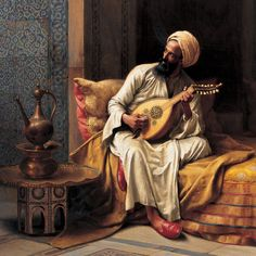 "arjuna-vallabha: ""Musician by Ludwig Deutsch "" Jean Leon, Arabian Art, Turkish Art, Ludwig, Arabian Nights, Egyptian Art, Art Fair, Islamic Art, Old Pictures"