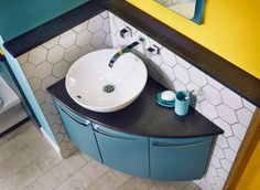 The miro sit-on basin is ideal teamed with this symmetry corner washbasin unit Blue Bathroom Furniture, Furniture, Bathroom Storage Units, Bathroom Furniture, Bathroom Basin, Bathroom Layout, Sink Cabinet, Bathroom Colors, Bathroom Design