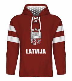 NEW 2015 Latvia Latvija Hockey World Cup Hoodie NHL Latvija Girgensons Ozolins