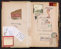 Janice Lowry's Journal    Lowry chronicles events in her life and in the greater world (including news about Hurricanes Katrina and Rita). Journal also includes many pages of collage.  From Smithsonian Archives of American Art.