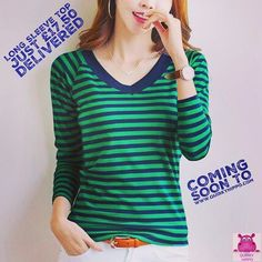 One of a number of new products hitting the shop this week. #stripes #fashion #womenswear #casual #getyourstripeson #obsessedwithstripes #emeraldgreen #thisseasonscolour #casualwear #style #womensfashion #tops #womenswear #comingsoon #newproducts #keepwat