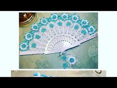 YouTube Crochet Flower Tutorial, Crochet Flowers, Crochet Lace, Crochet Books, Hand Fan, Crochet Patterns, Outdoor Blanket, Youtube, Projects
