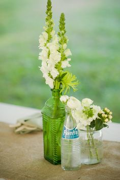 Simple Chic Wedding Centerpiece