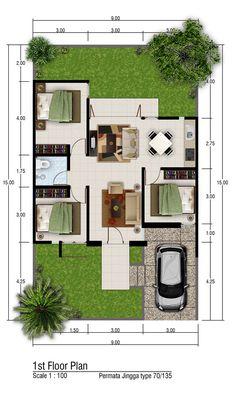 Small House Layout, House Layout Plans, Small House Design, House Layouts, Modern House Design, Sims House Plans, Family House Plans, New House Plans, Small House Plans