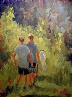 """Heidi Malott Original Paintings: 9x12""""  Children Impressionist Paintings Boyhood Me..."""