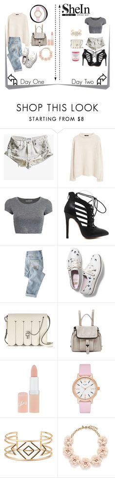 """Day 1&2"" by jennifer-velotta ❤ liked on Polyvore featuring Post-It, One Teaspoon, MANGO, Wrap, Keds, Carven, Botkier, Rimmel, Kate Spade and Stella & Dot"