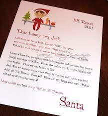 elf on the shelf report from santa.