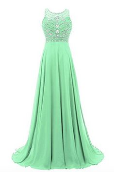 Sexy Prom Dress,Sleeveless Chiffon Beaded Prom Desses Evening