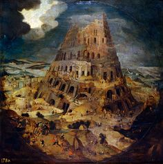 Pieter Brueghel the Younger - Construction of the Tower of Babel, 1595, oil on panel, 43.2 x 42.9 cm