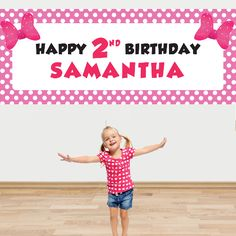 Minnie Giant PERSONALIZED Banner Party Supplies Canada - Open A Party