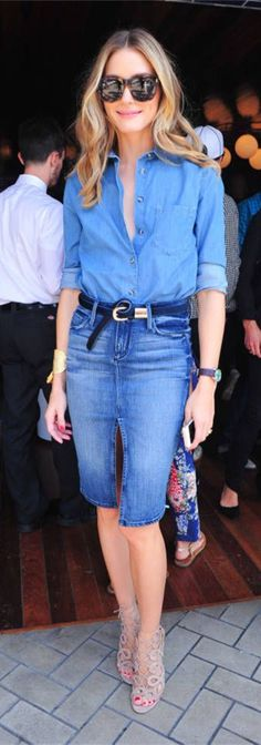 chic in double denim