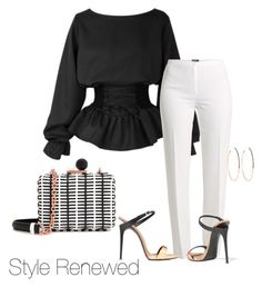 A fashion look from May 2017 featuring Basler pants, Giuseppe Zanotti shoes and Sophia Webster clutches. Browse and shop related looks. 60 Fashion, Work Fashion, Fashion Outfits, Womens Fashion, Fashion Trends, Classy Outfits, Stylish Outfits, Cute Outfits, Sophia Webster