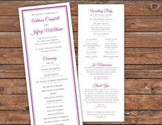 Printable Wedding Program Monogram Blue by RedWagonDesignShop, $30.00