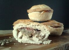 Leftover turkey, stuffing and cranberry pies