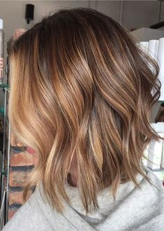 Browse this post to see the stunning trends of asymmetrical long bob hairstyles wit blonde balayage hair colors and highlights in year 2018. If you wanna wear unique colors for your bob length haircuts then you have to visit this post for amazing hair color ideas for bob cuts in 2018.