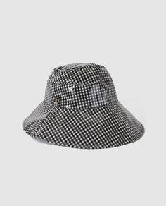 Sombrero de lluvia con estampado a cuadros