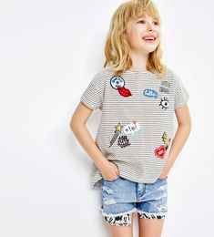 Patches T-shirt-View All-T-SHIRTS-GIRL | 4-14 years-KIDS | ZARA United States