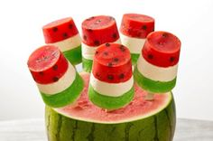 Watermelon Pops with Jell-O and Philly #summer #treat