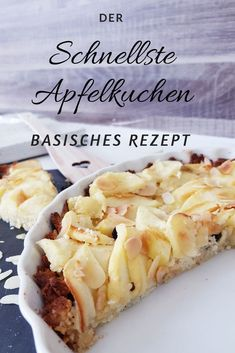 Mit Rezept basischer Apfelkuchen und Pascoe Naturmedizin – Apfel … Why basic? With recipe basic apple pie and Pascoe natural medicine – apple pie – why basic? With recipe basic apple pie and Pascoe natural medicine – Cake Cake Desserts Sains, Apple Pie Recipes, Healthy Dessert Recipes, Meals For Two, Natural Medicine, No Bake Cake, Easy Meals, Food And Drink, Cooking
