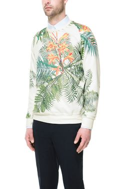 74d0162174 FLORAL SWEATSHIRT - Zara 2013 Zara Fashion
