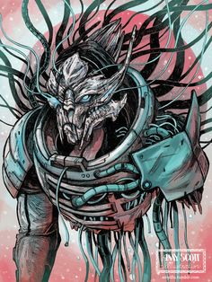 Amyillu-amyillu Guess who's my favorite turian spectre-turned-villain-tragic-alien is? That's right, obviously, I mean, it's Saren the Arterius of Council Space and the Turian Hierarchy.   In honor of N7 Day, in the year of Earth, 2015, I decided to draw Herr Saren Arterius.