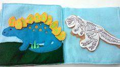 My Dino Quiet Book by HandcraftingHarmony on Etsy