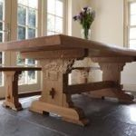 Waney edge refectory dining table – Mar-17