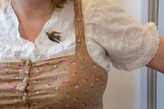 """Wooden bird pin. cute! this whole look reminds me of Hannah Horvath from """"Girls"""""""