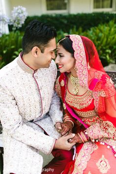 Sweet indian couple's portrait http://www.maharaniweddings.com/gallery/photo/87526