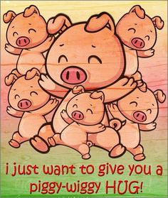 a hug for you This Little Piggy, Little Pigs, Funny Flirty Quotes, Good Day Quotes, Weekend Quotes, Morning Quotes, Hug Images, Hug Quotes, Qoutes