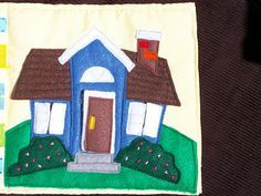 Quiet Book Page, The Family Home  This could totally be a felt page