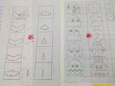 Those are the pages from Toru Iwatani's sketchbook filled with the original drafts of Pac-Man. Toru is the legendary Japanese video game creator who's responsible for the original arcade game version of Pac-Man.