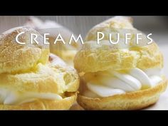 ▶ Easy Cream Puffs Recipe - YouTube