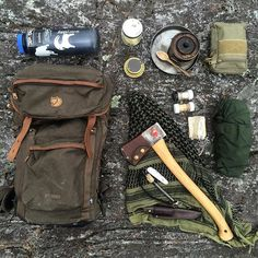 Pack dump from last weekend. #outdoors#bushcraft#hike#canoe#wild#adventure#picoftheday#fjallraven#gransfors#diy#axe#restoration#leather#trangia#enzotrapper#knife#maxpedition#lifestyle#vintage#axejunkies#sak#victorinox#canada#fjallravenstubben