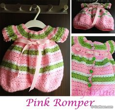 Free Crochet Pattern - Lollipop Baby Romper i can't crochet but my mom can :) so adorable!!
