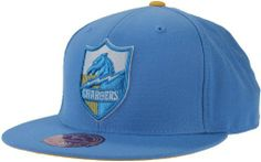 San Diego Chargers NFL Mitchell & Ness, Throwback Fitted Hat, TK03, Powder Blue by Mitchell & Ness. Save 36 Off!. $17.95. Flat Brim. Officially Licensed by NFL. Mitchell And Ness Logo Embroidered on Back. Large Emriodered Center Logo. 100% wool. Add a little bit of vintage style to your San Diego Chargers wardrobe with this Chargers Mitchell & Ness Throwback Fitted Hat. If you are a die-hard Chargers fan, you are sure to represent both the past and present with some stylish d...