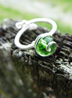 The Legend of Zelda Kokiri's Emerald Ring by GuiltyGeeks on Etsy, $25.00