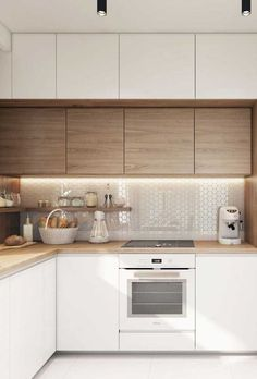 Kitchen Room Design, Kitchen Cabinet Design, Modern Kitchen Design, Living Room Kitchen, Home Decor Kitchen, Interior Design Kitchen, Kitchen Furniture, Home Kitchens, Ikea Kitchen